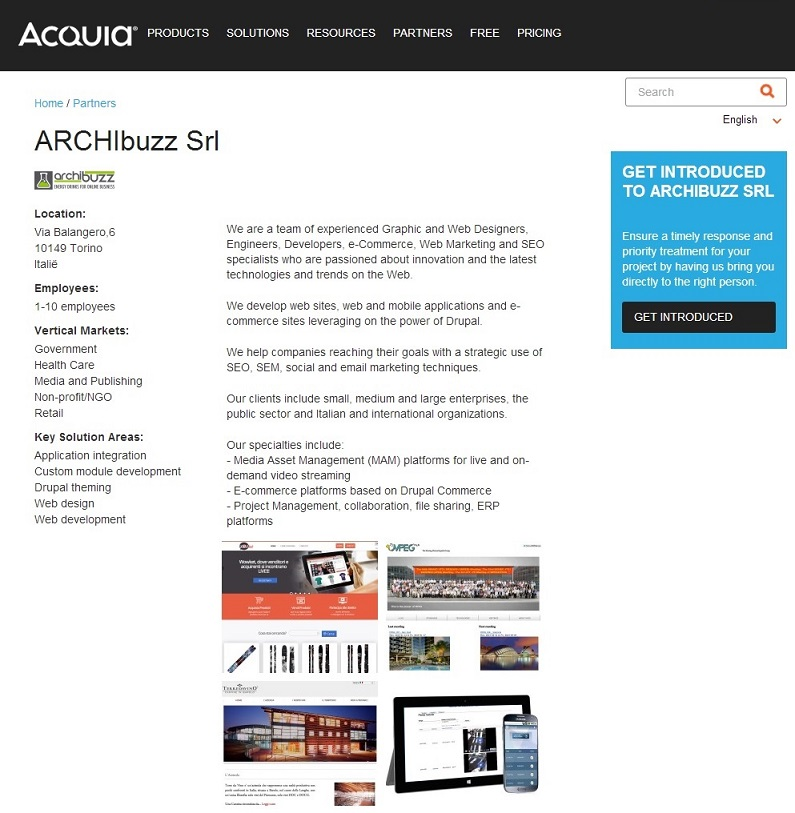 ARCHIbuzz partner di Acquia