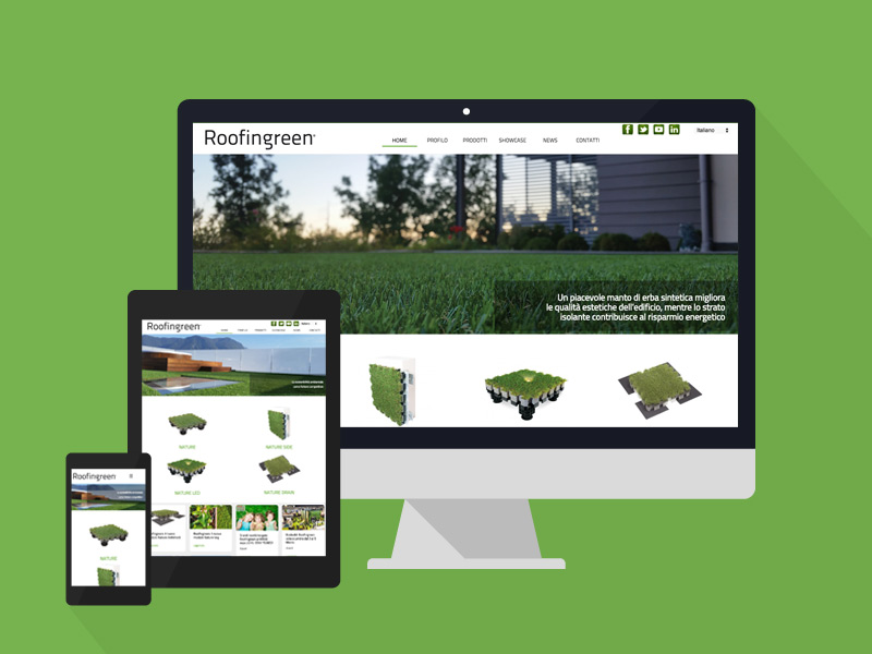 Responsive layout sito web Roofingreen