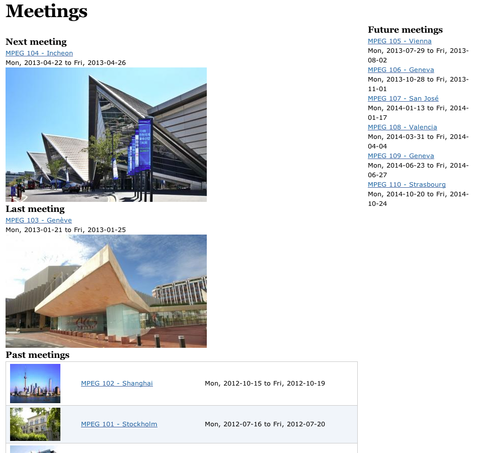 mpeg meeting page