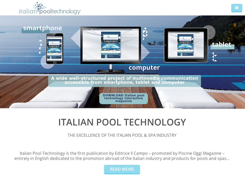 Italian pool technology home page