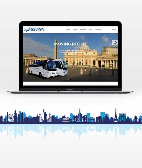 Linea Azzurra bus: website redesign and communication